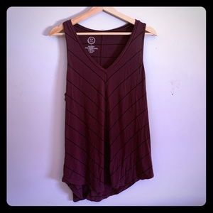 Maurices large striped sleeveless top